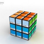 cool pantone colourful rubik's cube