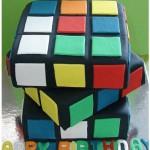 eatable rubik's cube birthday cake