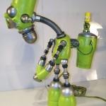 green bart simpson robot