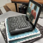 laptop cake front view