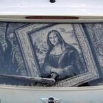 mona lisa dirty car art