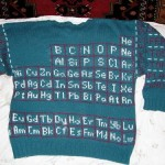 periodic table fashion sweater elements