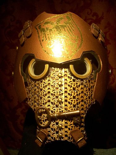 steampunk iron man helmet