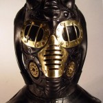 steampunk metallic mask