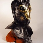 steampunk metallic mask side