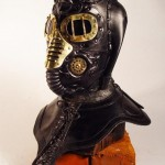 steampunk metallic mask tilt