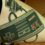 video game tattoo nes controller