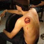 video game tattoo super mario bloody sprite