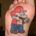 video game tattoo super mario feet