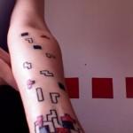 video game tattoo tetris