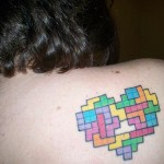 video game tattoo tetris back