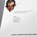 13th street horror stationary business card