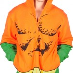 Aquaman Costume Hoodie with model