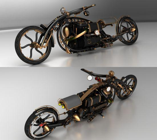 Black Widow Steampunk Chopper (2)