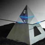 Pyramid Shaped Coffee Table-cum-iPod Dock (3)