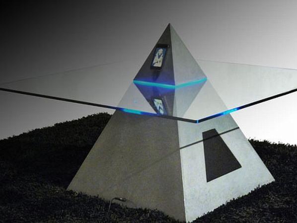 Pyramid Shaped Coffee Table-cum-iPod Dock (2)
