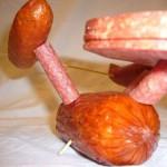 funny star trek enterprise meat sculpture