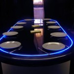 gaming poker dining table lee
