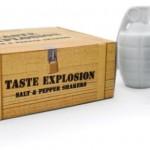 grenade shaped salt and pepper shaker