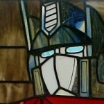 optimus prime transformer stained glass image thumb