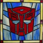 stained glass autobot