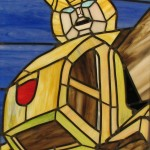 stained glass bumblebee