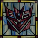 stained glass decepticon