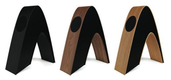 Acoustic Speakers Shaped Into Star Trek Logo