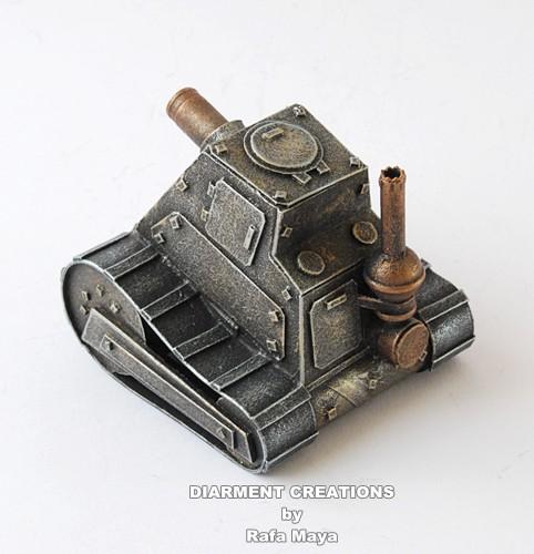 Steampunk miniature tank1