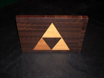 Awesome Zelda Inspired Triforce Cutting Board