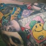 batman collage tattoo 3