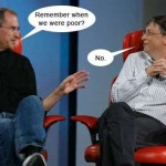 funny steve jobs and bill gates chat image thumb