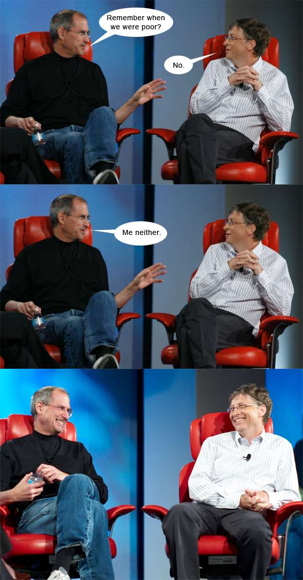 funny steve jobs and bill gates chat