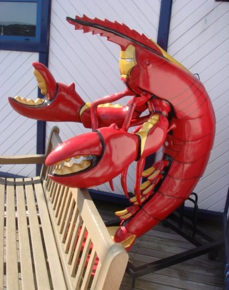 iron man lobster suit