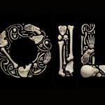 skull art oil image