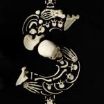 skull art star dollar sign image