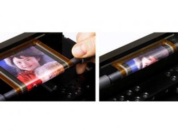 sony rolling flexible screen