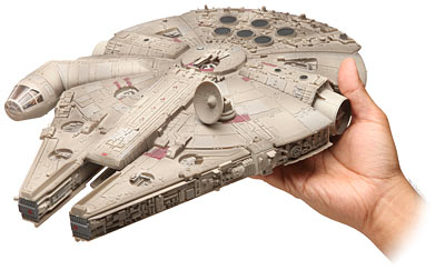 star wars millennium falcon model1