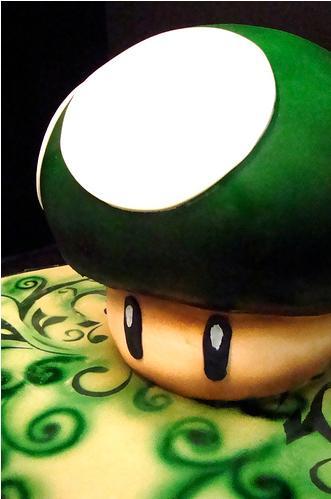 super mario one up mushroom cake