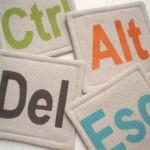 'CLEAR' & 'DELETE' COASTERS