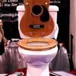 3 guitar toilet