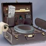7 suitcase toilet