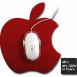Apple shaped Mousepads