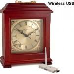 Color Wireless Mantel Clock Camera-USB