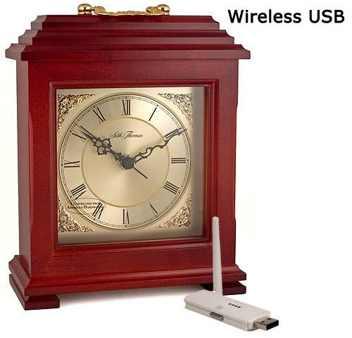 Color Wireless Mantel Clock Camera-USB