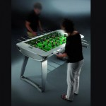Playing Table Soccer – Foosball