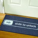 Slide to open mat