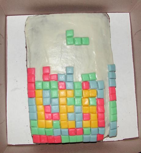 Tetris Cake Want a Bite or a Tetromino