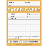 Tweet or E-mail on Notepads in Your Very Own Handwriting