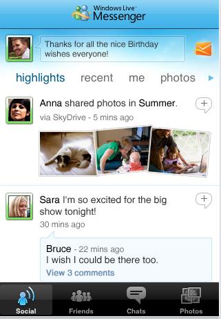 Windows Live Messenger iphone